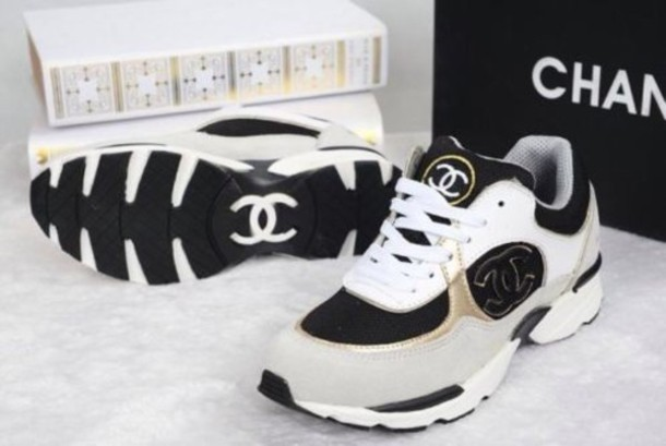 shoes chanel sneakers blanc chanel shoes  chanel shoes sneakers chanel channel shoes white gold grey grey tennis shoes