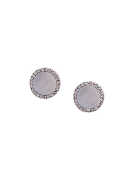 women pearl earrings stud earrings gold white grey metallic jewels