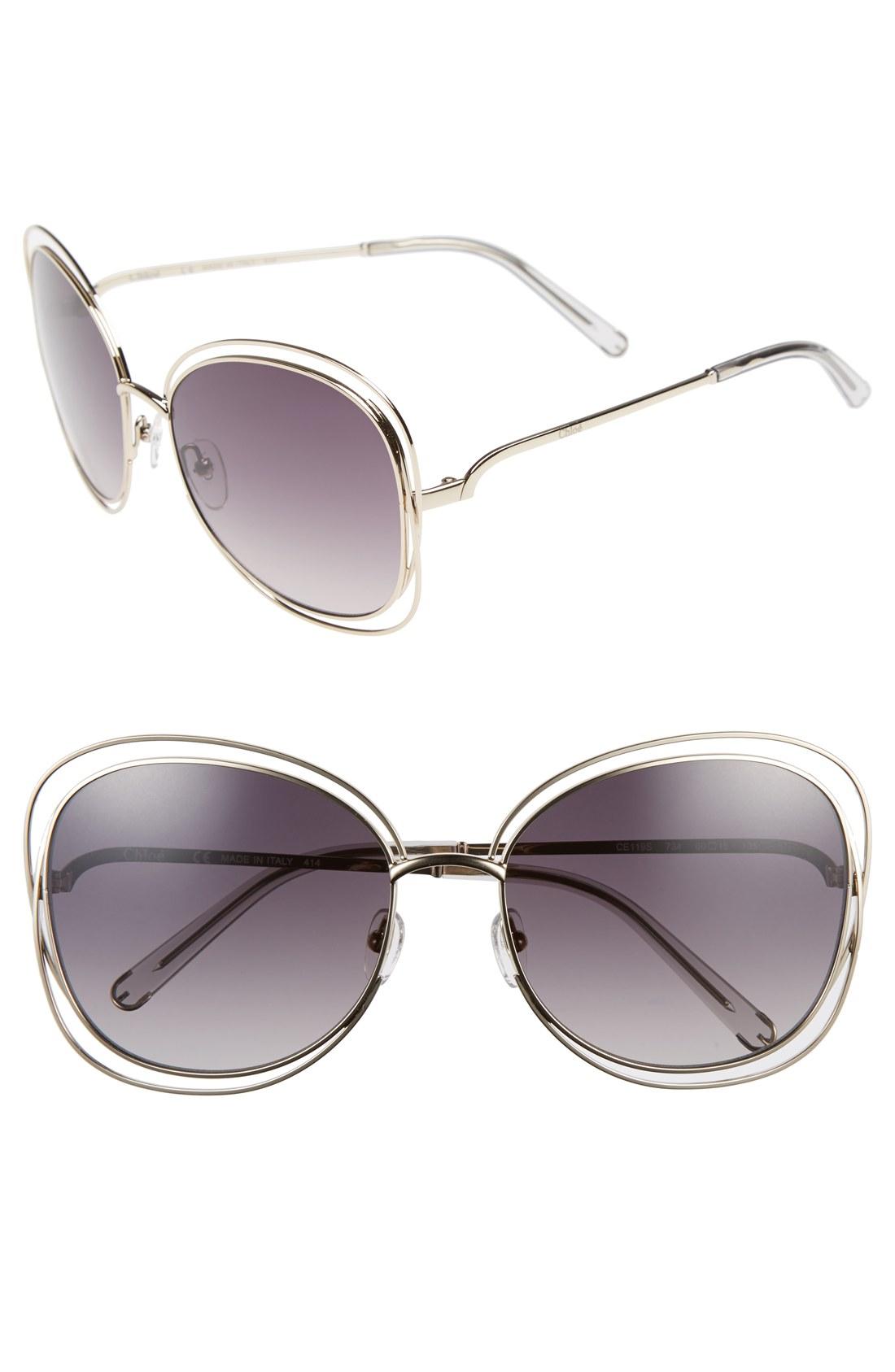 286b7f119c Chloé  Carlina  60mm Oversize Sunglasses