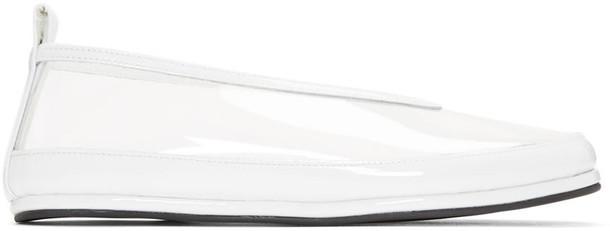 Comme Des Garçons Clear and White Pvc Ballerina Flats