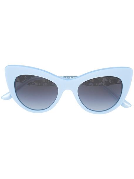 Dolce & Gabbana Eyewear women sunglasses lace flowers blue