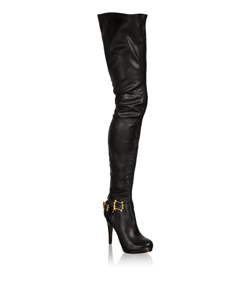 H&M ANNA DELLO RUSSO US5,6,7,8,9,10 EU36,37,38-41 Knee High LEATHER BOOTs SHOES
