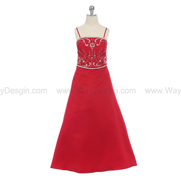 dress red dress flower girl dress