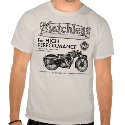 Matchless Classic Motorcycle T Shirt | Zazzle.co.uk