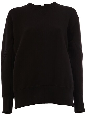sweatshirt lace black sweater