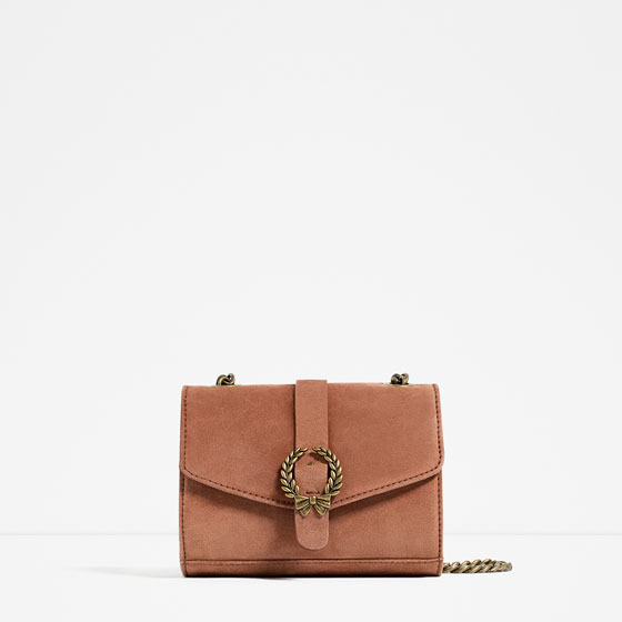 7b22495fe45 LEATHER CROSSBODY BAG WITH BUCKLE - View all-BAGS-WOMAN | ZARA United States