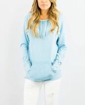 sweater,blue,light blue,fashion,style,long sleeves,jumper,hoodie,trendy,freevibrationz,free vibrationz