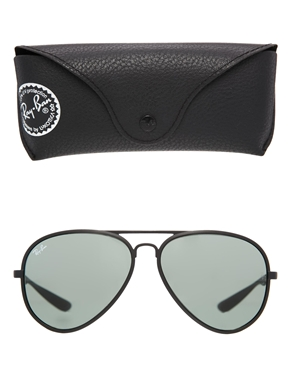 Ray-Ban | Ray-Ban Matte Black Aviator Sunglasses at ASOS