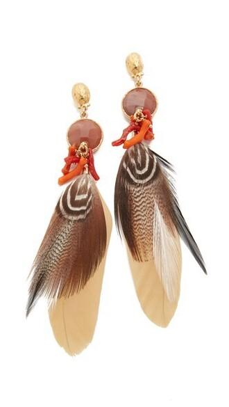 earrings gold beige jewels