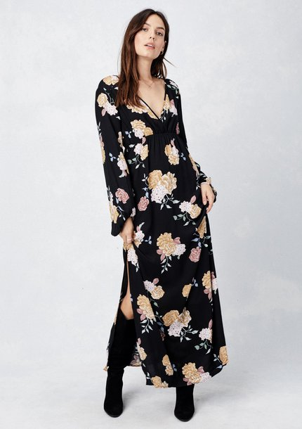 dress floral maxi dress floral dress floral v neck maxi dress bohemian maxi dress floral v neck dress side slit maxi dress long sleeve maxi dress empire waist dress vintage inspired dress plunge v neck slit dress