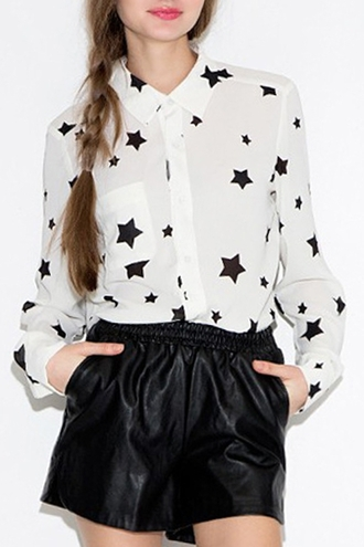 shirt stars black and white