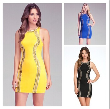 Aliexpress.com : Buy 2014 Top Quality 90% Rayon Solid Petal Tiered Celebrity Dress Tank Sleeveless A Line Sexy Club Bandage Dress 4color HL 389 from Reliable dress emma suppliers on Lady Go
