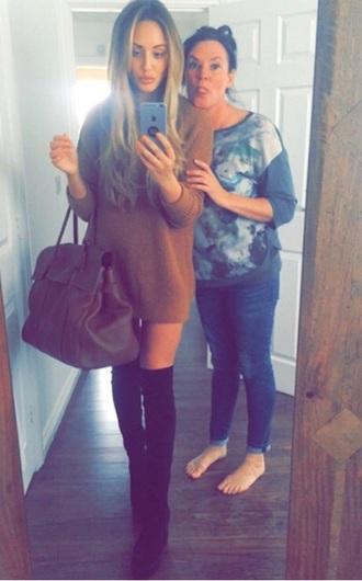 charlotte crosby outfit jumper boots high heels black heels