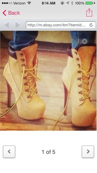shoes high heels timberlands