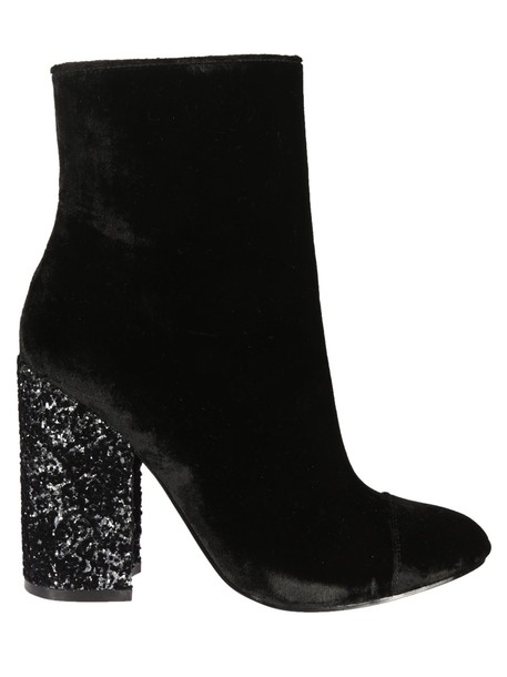 heel ankle boots black shoes