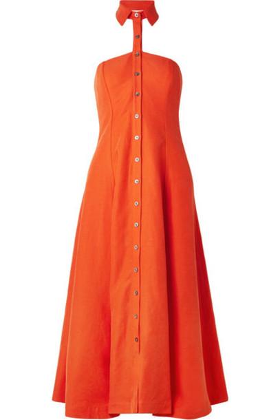 Mara Hoffman dress orange bright