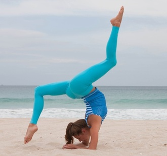 leggings blue turquoise pants yoga workout