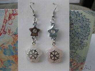 jewels earrings quartz dangle dangle earrings pink stars star earrings cz pink quartz silver