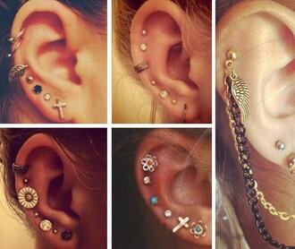 jewels earrings jewelry cross earring cross stud earrings ear cuff accessories accessory trendy