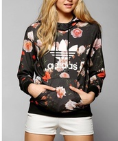 jacket,adidas,flowers,floral jacket,hoodie,floral hoodie,sweater,girl,athletic,adidas jacket,floral,floral shirt,romper,party,short