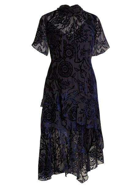 Peter Pilotto dress high floral navy print