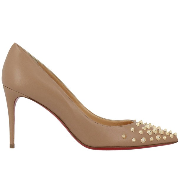 christian louboutin women pumps shoes nude