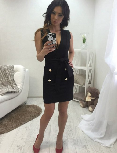 Lady's Gorgeous Erotic Cotton Sheath Dress
