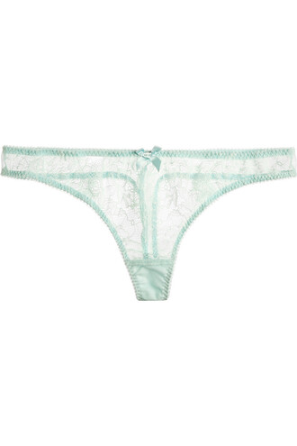 thong lace mint underwear