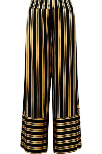 By Malene Birger pants wide-leg pants black satin
