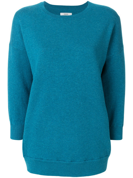 jumper women spandex cotton blue sweater