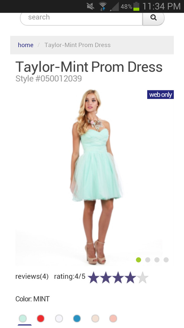 dress mint short dress