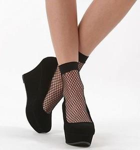 Fishnet ankle socks pop socks trouser socks 3 8