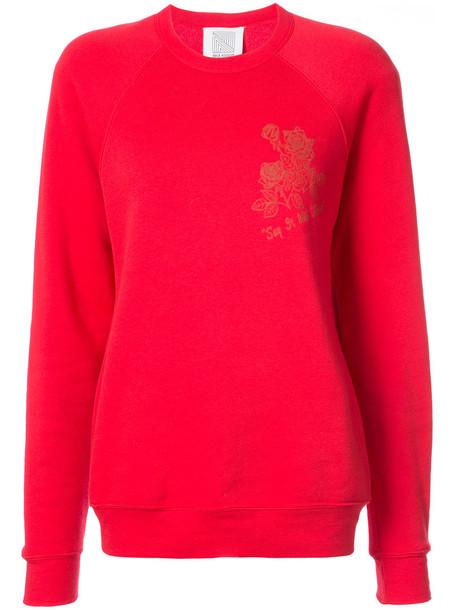 Rosie Assoulin sweatshirt women floral cotton print red sweater