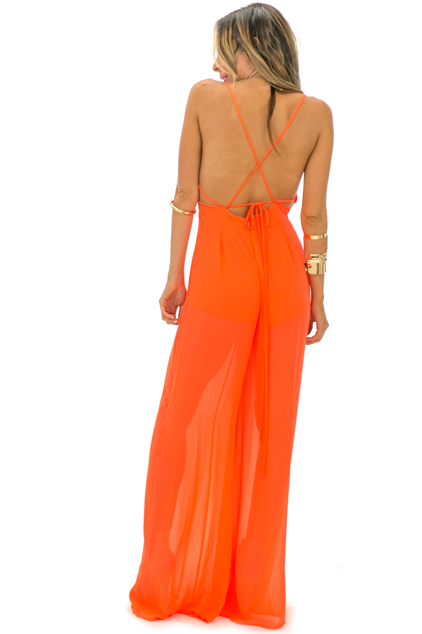 Stella open back jumpsuit