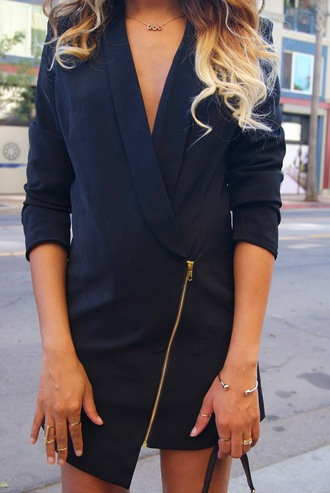 dress little black dress blazer dress blazer