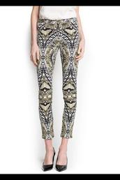 pants,snake print