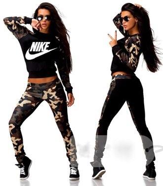 jumpsuit camouflage nike style
