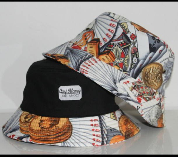 hat bucket hat bucket cap cap cards cute menswear menswear mens accessories unisex accessories printed bucket hat