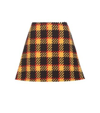 miniskirt cotton wool skirt