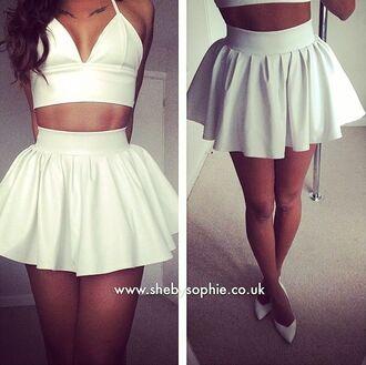 skirt white skirt skater skirt cute skirt princess dress summer skirt