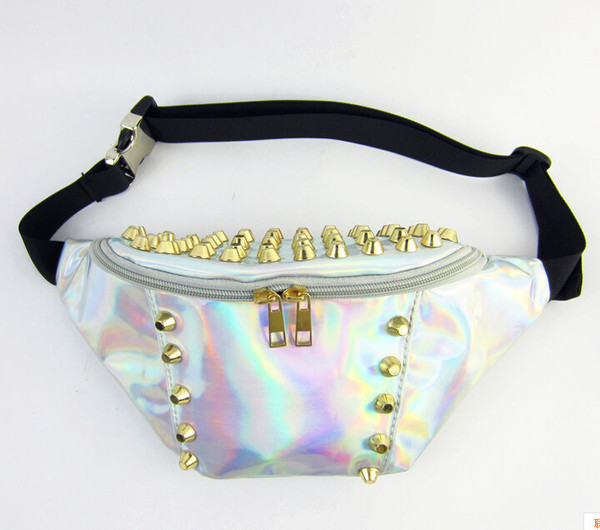 bag waist bag chest bag iridescent bag