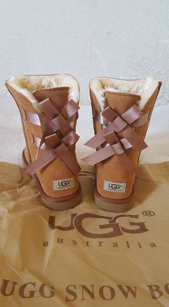 shoes boots ugg boots uggs boots bailey bow brown pearl uggs autumn boots brown leather boots brown