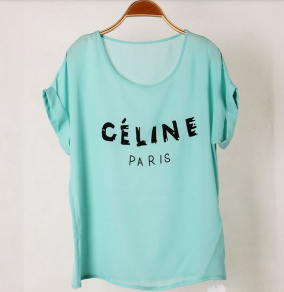 celine celine paris shirt celine paris t shirt celine paris tee celine paris tshirt celine shirt celine paris, chiffon top chiffon shirt turquoise top casual top casual tops celine tshirt celine top turquoise turquoise shirt