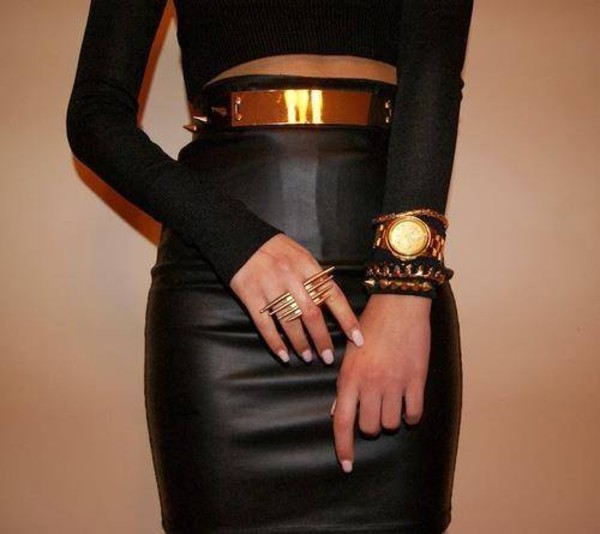 belt gold belt belt metal gold waist belt jewels skirt shirt gold and black belt studded studded belt leather skirt