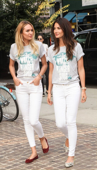 jeans lily aldridge shoes top