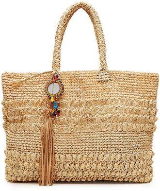 bag raffia bag straw bag straw raffia tassel tote bag bag accessoires