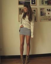 dress,stripes,skirt,mini dress,mini skirt,sweater,crop tops,knitted sweater,top
