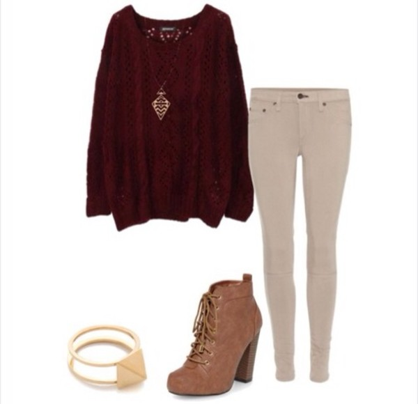 sweater jeans shoes