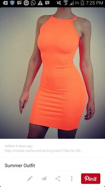 dress neon orange