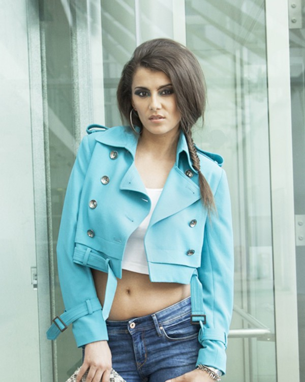 jacket chic tailoring clutch cropped cropped jacket turquoise button up buttons jeans style